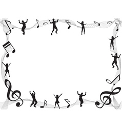 Musical Border vector image vector image