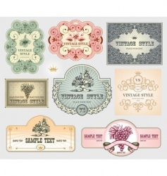 vintage label set vector image
