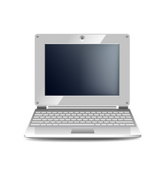 white netbook isolated on white vector image vector image