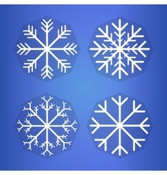 Bright background with snowflake Eps 10 vector image