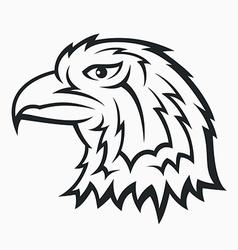 Eagle head symbol vector image
