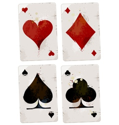 Poker cards set vector image vector image
