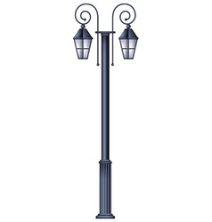 A lamp post template vector