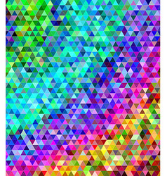 Abstract multicolored triangle tile background vector image
