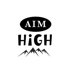 Aim high inspirational hipster kids poster vector