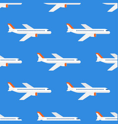 airplane flight seamless pattern wallpaper vector image