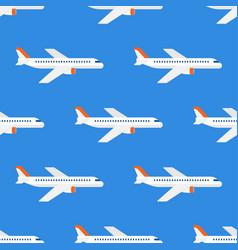 airplane flight seamless pattern wallpaper vector image