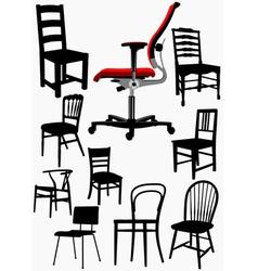 al 0314 chairset vector image