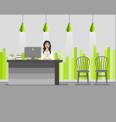 bank office manager woman vector image