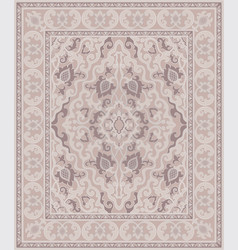 Beige oriental carpet vector