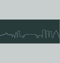 Beijing single line skyline vector
