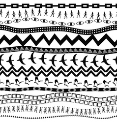 Black and white seamless pattern in ethnic style vector image