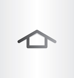 black house icon design vector image