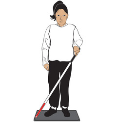 Blind Woman vector image