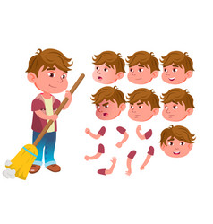 boy child kid teen expression vector image