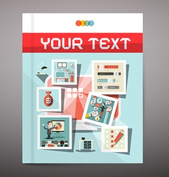 Brochure - Business Book Cover Design vector image