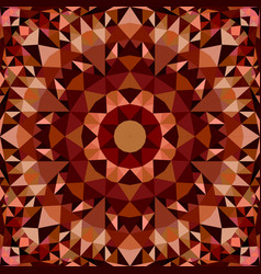 brown seamless kaleidoscope pattern background vector image