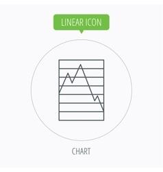 Chart icon Graph diagram sign vector