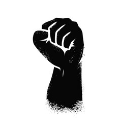 Clenched fist hand gesture symbol vector