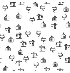 construction tower crane seamless pattern vector image