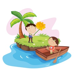 Couples Island Holiday vector image