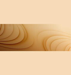 Creamy milk chocolate waves and curves abstract vector