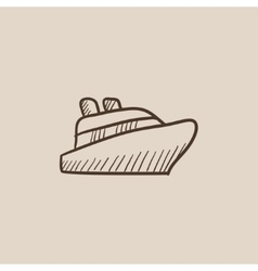Cruise ship sketch icon vector image