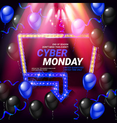 cyber monday sale vector image