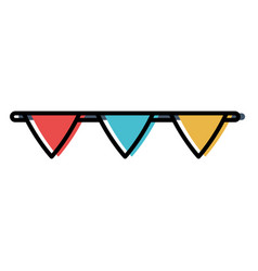 Decorative pennant icon vector