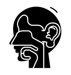 Ear nose and throat - ent icon vector
