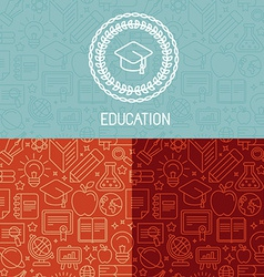 educational logo design vector image vector image
