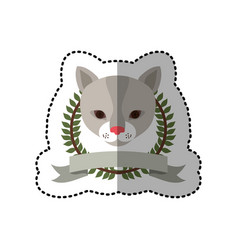 Emblem cat hunter city icon vector