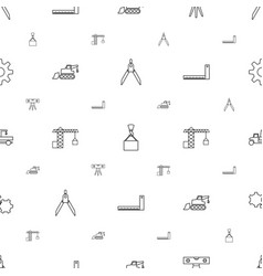 engineering icons pattern seamless white vector image