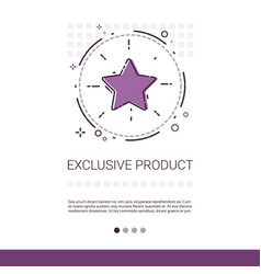 exclusive product shopping banner with copy space vector image
