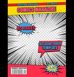 explosive comics poster vector image