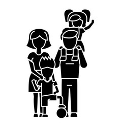 family father mother son icon vector image