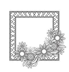 Flowers decorative frame vector