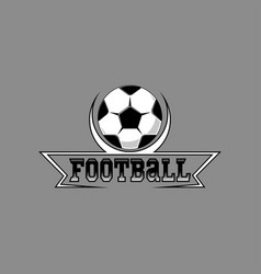 Football logo for the team and the cup vector