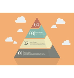 Four Step Pyramid Diagram vector image