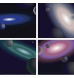 galaxies vector image