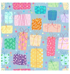 Gifts seamless pattern vector image