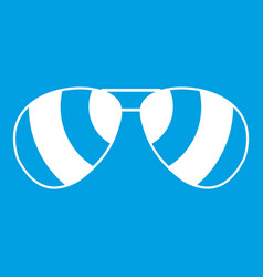 glasses icon white vector image