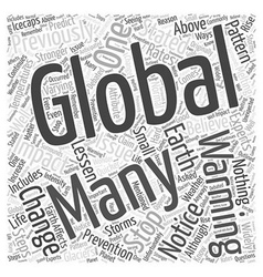 Global Warming Can It Be Stopped Word Cloud vector