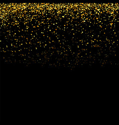Gold glitter particle background vector