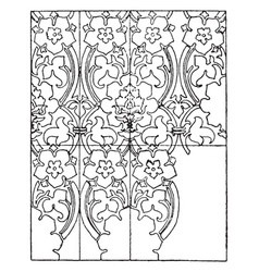Gold pattern is a 15th century design vintage vector