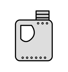 Grayscale gasoline bottle to car industrial vector