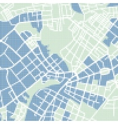 halftone street map vector image