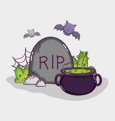 Halloween cartoons concept vector