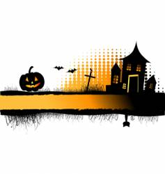 halloween night frame vector image