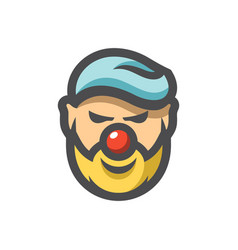 happy clown face icon cartoon vector image